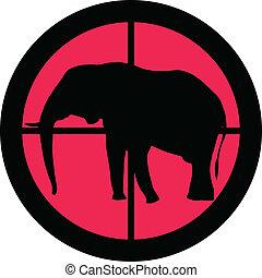 serie, scopo, -, elefante