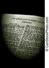 serie, sepia, éxodo, biblia