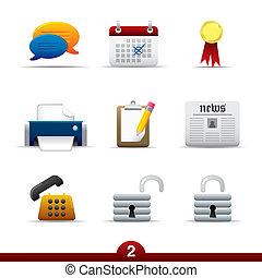 serie, universale, icona, -, web