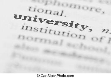serie, università, -, dizionario