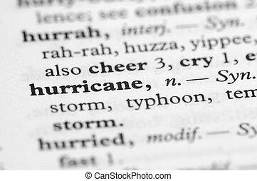 serie, -, uragano, dizionario