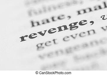 serie, -, vendetta, dizionario
