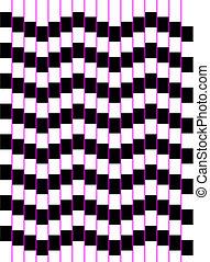 series:, óptico, arte, quadrados, onda