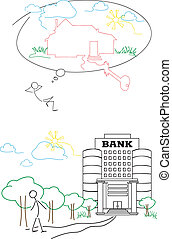 Series Crediting - bank credit for buying house