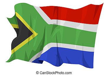 series:, drapeau, afrique, sud