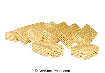 waffle - series: isolated on white: food - waffle