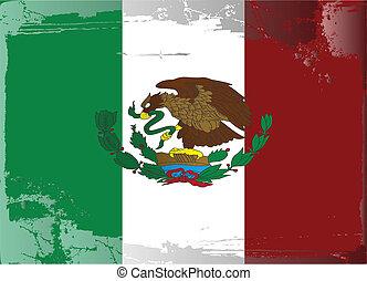 series-mexico, grunge, drapeau