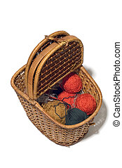 basket with clew - series object on white - basket with clew