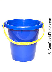 bucket - series object on white: isolated - plastic bucket