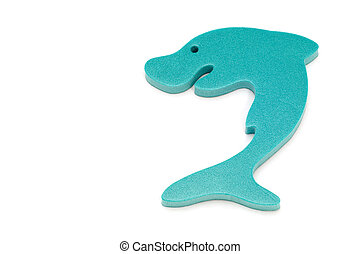 shark - series object on white - water toy - shark