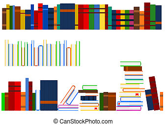 Series of books - Vector image of several aligned rows of...