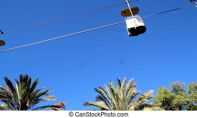 Series of cable car view of a cable cars running - Series of...