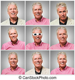 Series Of Expressive Businessman