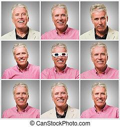 Series Of Expressive Businessman