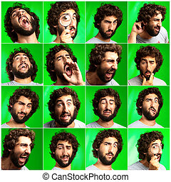 Series Of Expressive Man