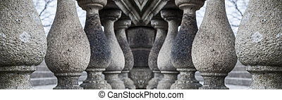 series of granite columns