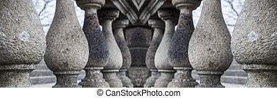 series of granite columns