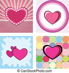 series of heart graphic