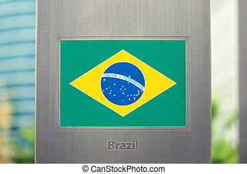 Series of national flags on pole - Brazil - National flags...