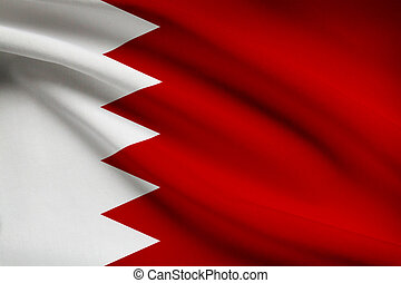 Bahraini flag blowing in the wind. Part of a series.