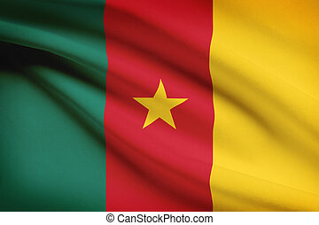 Series of ruffled flags. Cameroon.