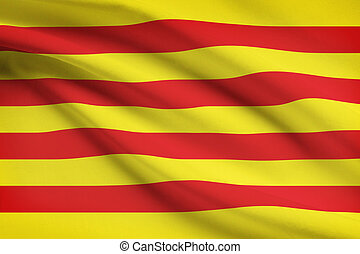 Series of ruffled flags - Catalonia