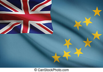 Series of ruffled flags. Tuvalu.