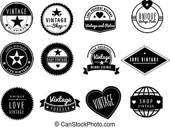 series of vintage retro logos