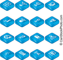 series, set., computing, netværk, iconerne