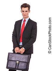 serieuze , aktentas, zakenmens
