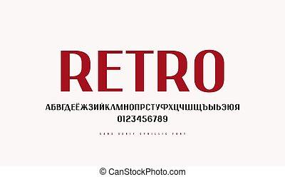 serif, cyrillic, sin, fuente