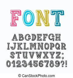 Serif latin font