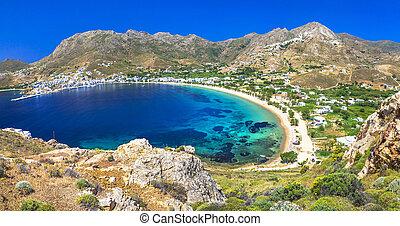 serifos, isla, griego, -, vacaciones, cyclades