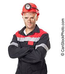 serio, minero, carbón