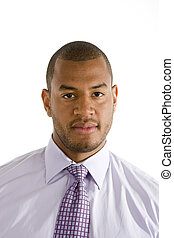 Serious Black Man in Dress Shirt - A serious looking black ...