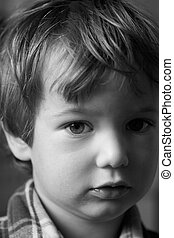 Serious boy - Such serious boy though milk on lips has not...