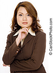 Serious Business - A serious looking young asian business...