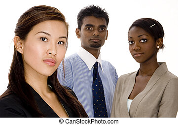 Serious Business Team - Three serious looking individuals...