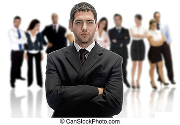 serious businessman with crossed arms