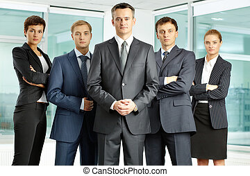 Serious businessteam - Portrait of serious business group ...