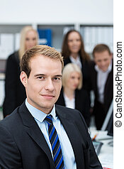 Serious dedicated young businessman - Portrait of a serious...