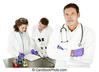 Serious Doctor in Laboratory