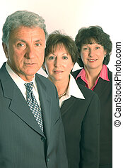 serious executives - serious management team