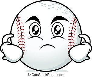 Serious face baseball cartoon character