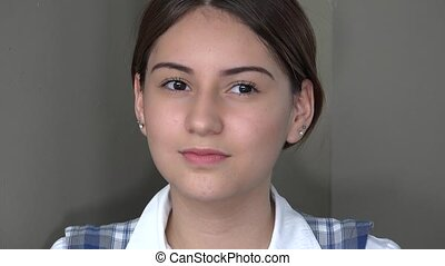 Serious Female Teen