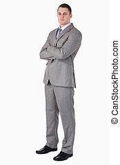 Serious looking businessman