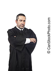 Serious male judge