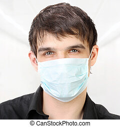 Man in the Flu Mask