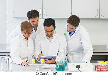 Serious scientists using tablet PC