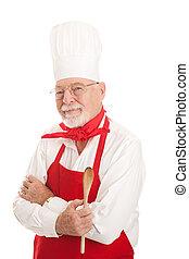 Serious Senior Chef